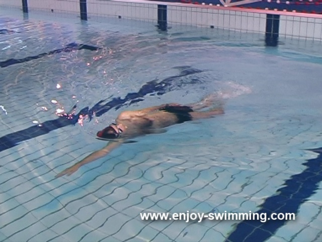 Backstroke Swimming Drills – Hand-Lead Side balance
