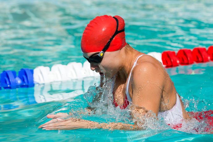The breaststroke is the one of the most popular swim strokes.