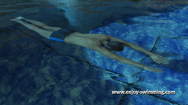 A breststroke swimmer in the underwater glide phase