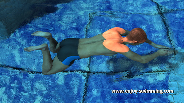 Breaststroke Kick - End of Recovery