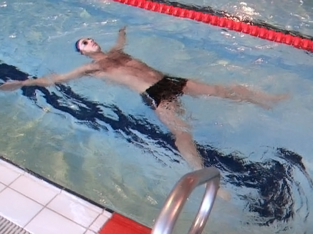 Elementary Backstroke: Eagle Position.
