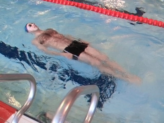 Elementary Backstroke: Soldier Position.