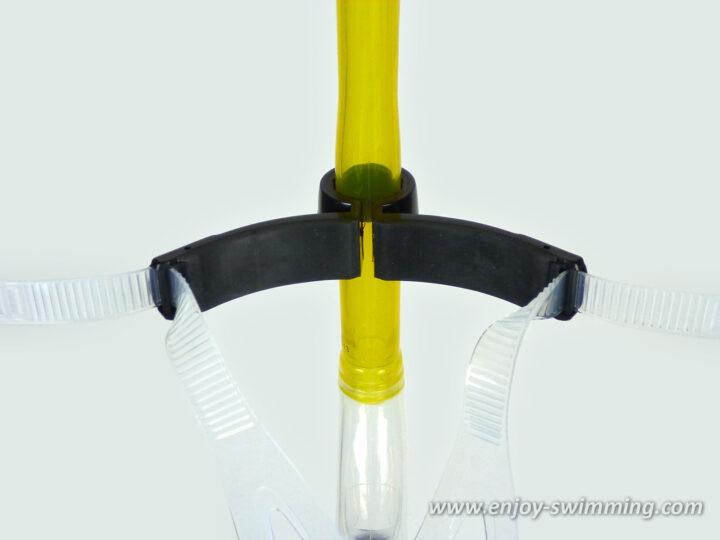 Swimmer's snorkel - head bracket back view