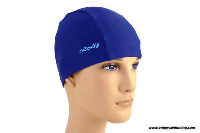 A lycra swim cap