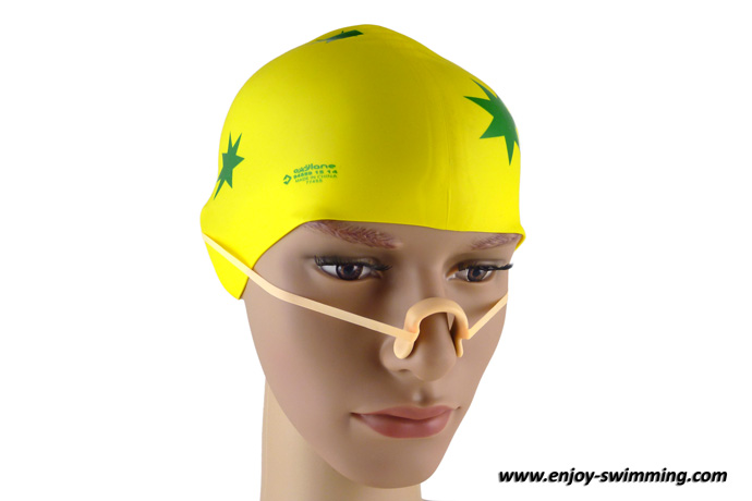 Swimming nose clip with strap-8741