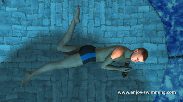 The Sidestroke - End of Leg Flexion and Beginning of Extension