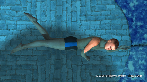 The Sidestroke - Leg Extension - Intermediary Position