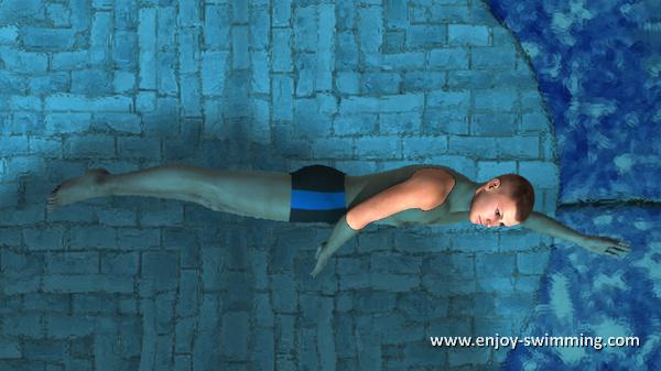 The Sidestroke - Leg Extension - Intermediary Position
