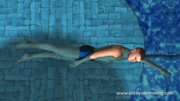 The Sidestroke - Leg Extension - Ending Position