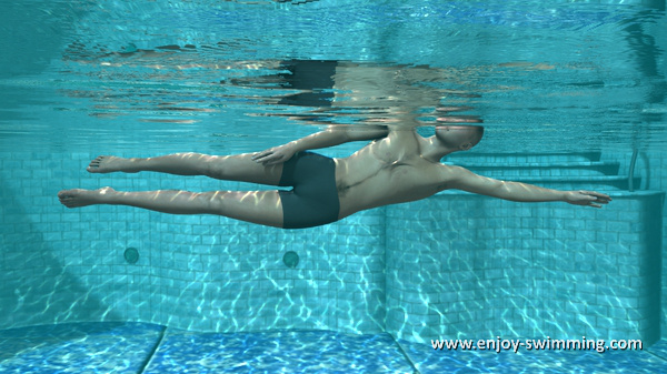 Side stroke initial position as seen from under water